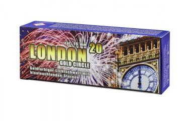 "Pyroeffekt """"London Gold Circle"""", Kal. 15mm, 20 Schuss"