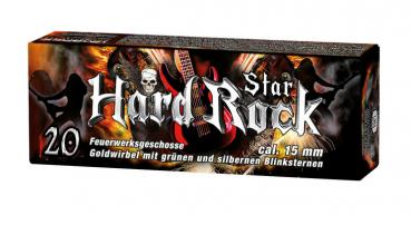 "Pyroeffekt """"Hard Rock Star"""", Kal. 15mm, 20 Schuss"
